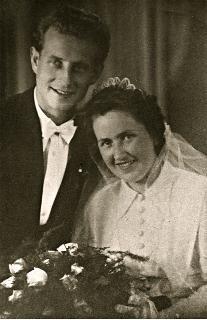 Hedwig Tomasch and Walter Fröhlich Marriage photo